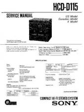 Buy Sony HCD-D11 Service Manual by download Mauritron #240929