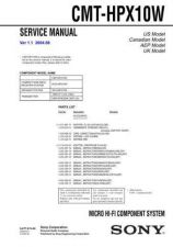 Buy Sony CMT-EX5 Service Manual by download Mauritron #239201