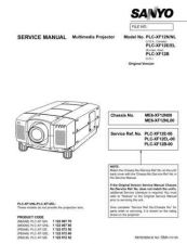Buy Sanyo PLCXF12 Video Projector Service Manual by download Mauritron #236701