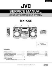 Buy JVC MX-KA5 Service Manual Schematic Circuit. by download Mauritron #272016