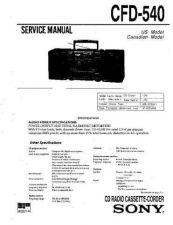 Buy Sony CFD-545 Service Manual by download Mauritron #238728