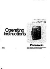 Buy Panasonic RQV162 Operating Instruction Book by download Mauritron #236330