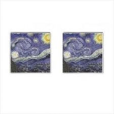 Buy Starry Night Vincent Van Gogh Art Cuff Links Cufflinks