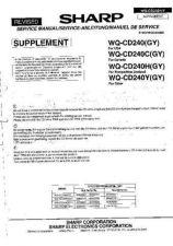 Buy Sharp. WQCD240-C-H-Y_SM_GB-DE-FR(1) Service Manual by download Mauritron #211