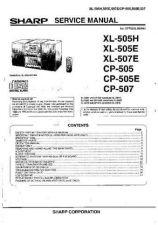 Buy Sharp. XL505H-E-507E-CP-505-E-507_SM_GB Manual by download Mauritron #212097