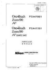 Buy NIKON One Touch Zoom 90 Parts List by download Mauritron #266178