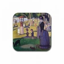Buy Sunday Afternoon Georges Seurat Set Of 4 Square Rubber Coasters
