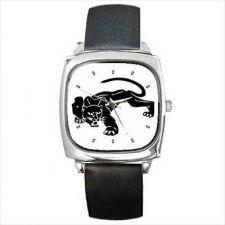 Buy Black Panther Wild Cat Art Square Wrist Watch
