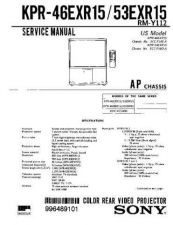 Buy Sony KPR-46XBR15 Service Manual. by download Mauritron #242184