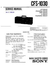 Buy Sony CFS-1035 Service Manual by download Mauritron #238898