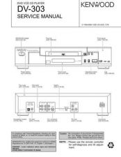 Buy KENWOOD DV-303 Technical Information by download #118596
