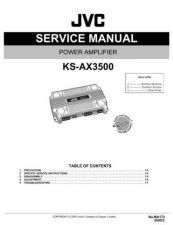 Buy JVC KS-AX3500 Service Manual Schematic Circuit. by download Mauritron #271657