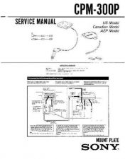 Buy Sony CPM-300P Service Manual by download Mauritron #239330