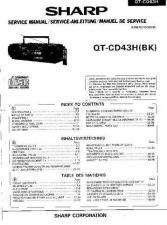 Buy Sharp QTCD43H -DE-FR(1) Service Manual by download Mauritron #210233