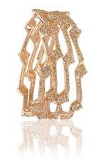 Buy Rose Gold tone cz crystal 4pc sleek bangle bracelet k17