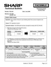 Buy SHARP FAX217 TECHNICAL BULLETIN by download #104385