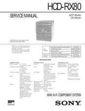 Buy Sony HCD-RX77 Service Manual by download Mauritron #241261