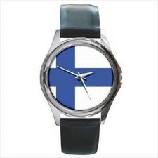 Buy Finland Country Flag New Round Unisex Wrist Watch