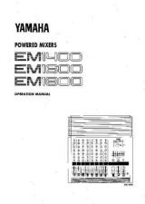 Buy Yamaha EM150II EN OM Operating Guide by download Mauritron #247834