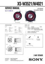 Buy Sony XS-W3521W4021 Service Manual. by download Mauritron #246456