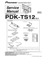 Buy Pioneer PDK-TS12 Service Manual by download Mauritron #234704