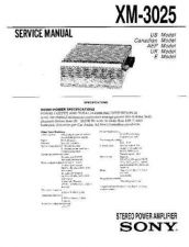 Buy Sony XM-3035 Service Information by download Mauritron #238340