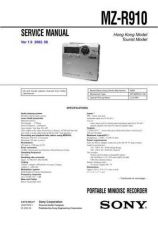Buy Sony MZ-R900 Service Manual. by download Mauritron #243194