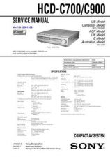 Buy Sony HCD-C700C900 Service Information by download Mauritron #237795