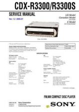 Buy Sony CDX-MP80 Service Manual by download Mauritron #238621