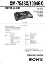 Buy Sony XM-754SX.. Service Manual. by download Mauritron #246022