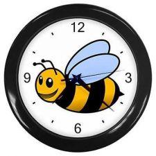 Buy Wall Clock Bumblebee Honey Bee Nursery Cartoon New