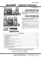 Buy Sharp CDPC651-671H Service Manual by download Mauritron #208650