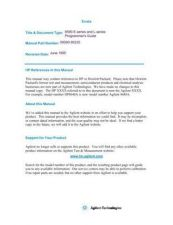 Buy HEWLETT PACKARD 8590 Series Part 10 Manual by download Mauritron #230030