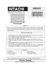 Buy Hitachi CMP4120HDE Service Manual by download Mauritron #260745