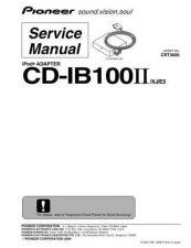 Buy Pioneer CDIB100II Service Manual by download Mauritron #234385