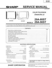 Buy Sharp 29A80ST-90ST (1) Service Manual by download Mauritron #207593