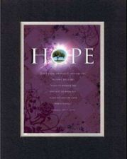 Buy Inspirational Poem - Hope For I know the Plans . . . BlackOnWhite DoubleMatting
