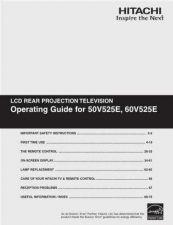 Buy Hitachi 50V525E Manual by download Mauritron #224229