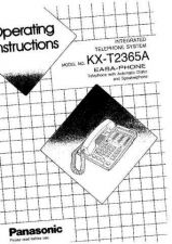 Buy Panasonic KXT3000 Operating Instruction Book by download Mauritron #236050