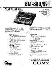 Buy Sony BM-89D-89T Service Manual by download Mauritron #236907