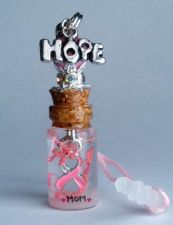 Buy Personalized Inspirational Hope Breast Cancer Gift Name On Rice Cell Charm