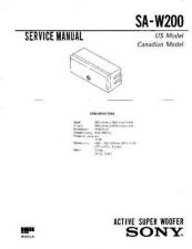 Buy Sony SA-VF700ED Technical Manual. by download Mauritron #243754