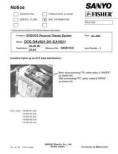 Buy Fisher DC-DAV821-01 Service Manual by download Mauritron #215341