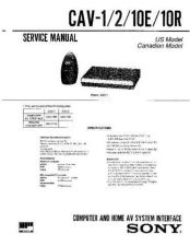 Buy Sony CAV-1 Manual by download Mauritron #228955