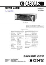 Buy Sony XR-CA300CA320CA320X Service Manual. by download Mauritron #246218