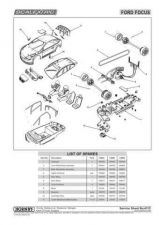Buy Scalextrix No.411C Ford Focus Service Sheets by download Mauritron #206572