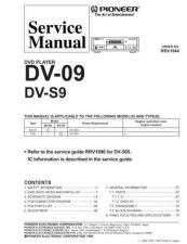 Buy Pioneer DV-09-KU-CA Service Manual by download Mauritron #233945