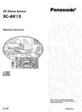 Buy Panasonic SCAK15 Operating Instruction Book by download Mauritron #236401