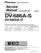 Buy Pioneer dv-686a-s-4 Service Manual by download Mauritron #234331