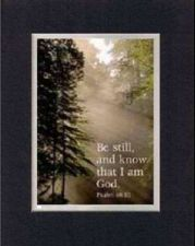 Buy Inspirational Plaque - Be Still and Know that I am God 8x10 BlackOnGold Dble Mat
